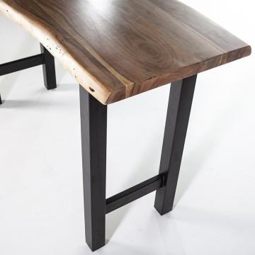 Masa de bar dreptunghiulara din lemn de salcam Acacia 150x50x90 cm maro