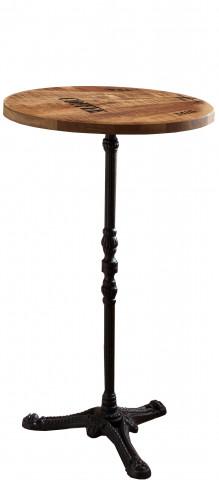 Masa de bar rotunda din lemn de mango Tables & Co 111 x 60 cm
