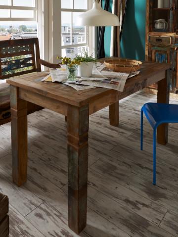 Masa dreptunghiulara cu blat din lemn reciclat 140x70x76 cm
