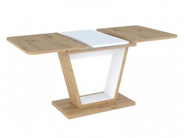 Masa dreptunghiulara extensibila din lemn Nigel 120 x 80 x 76 cm maro / alb