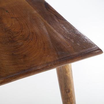 Masa patrata din lemn de mango Wisconsin 80x80x75 cm maro