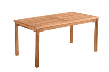 Masa pentru gradina dreptunghiulara din lemn de tec 150x90x75 cm maro