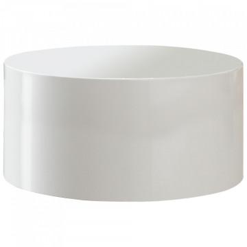 Masuta de cafea rotunda 60 cm alba