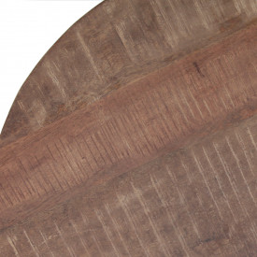Masuta de cafea rotunda din lemn de mango 70x70x35 cm maro deschis
