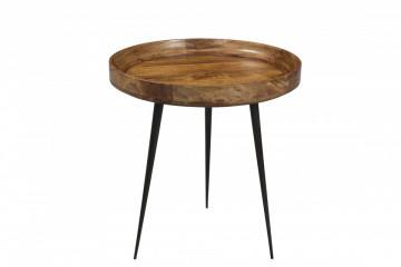 Masuta de cafea rotunda din lemn de mango This&That 50x50x52 cm maro