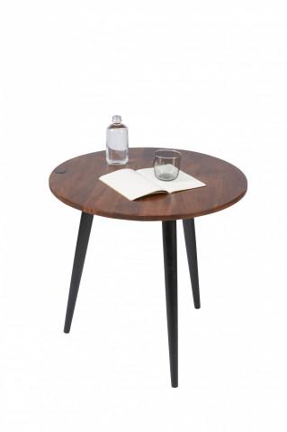 Masuta de cafea rotunda din lemn de mango Tom Tailor 50 cm