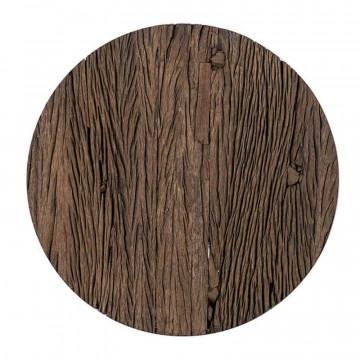 Masuta de cafea rotunda din lemn Kensington 45x45x56 cm maro