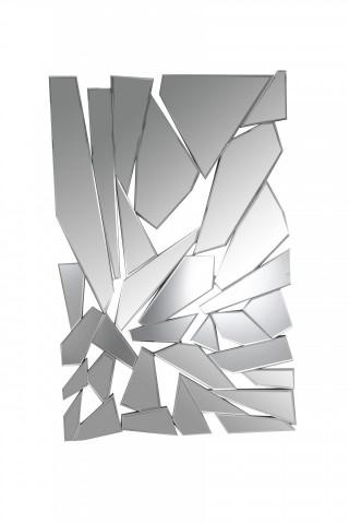 Oglinda dreptunghiulara cu elemente de sticlă spartă , 120x78 cm