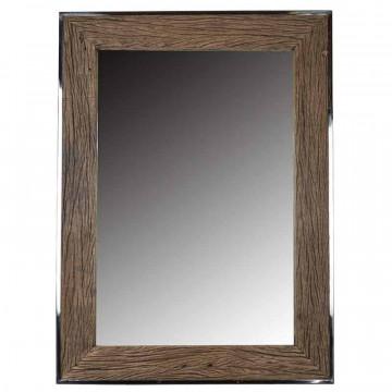 Oglinda dreptunghiulara cu rama din lemn maro Kensington, 115 x 85 x 6 cm
