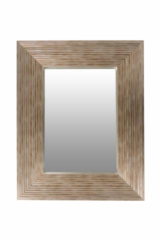 Oglinda dreptunghiulara cu rama din polistiren argintie/aurie Harper, 44,8cm (L) x 35,8cm (L) x 1,8cm (H)