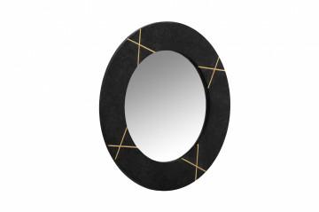 Oglindă rotunda cu rama din marmura neagra Dexter 61x61x2 cm