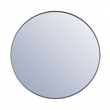 Oglinda rotunda cu rama neagra Immense 120 cm