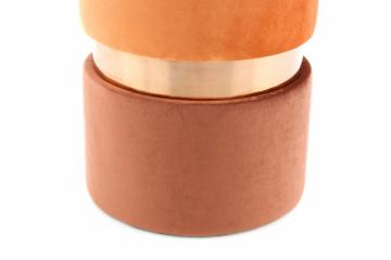 Puf/ Taburet tapitat Gipsy portocaliu/ maro