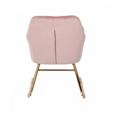Scaun balansoar tapitat Rocky roz