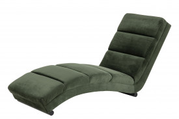 Scaun sezlong tapițat Sento verde