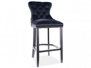 Set 2 scaun de bar din catifea August negre