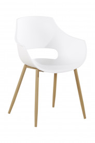 Set 2 scaune Alice albe