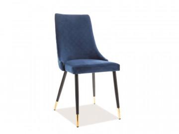 Set 2 scaune din catifea Piano albastre