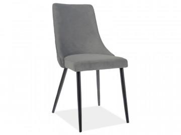 Set 2 scaune din catifea Piano gri mat