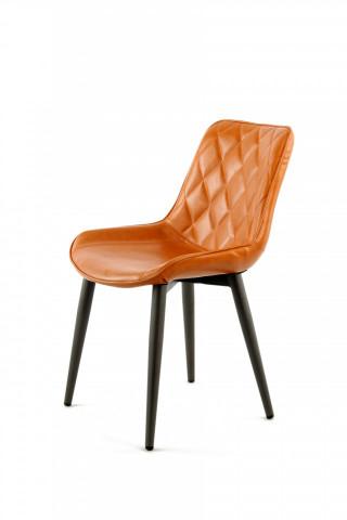 Set 2 scaune piele artificiala Cecil portocaliu
