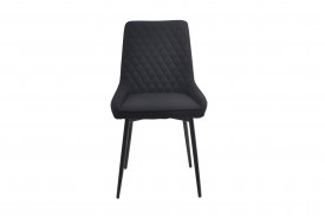 Set 2 scaune tapitate antracit