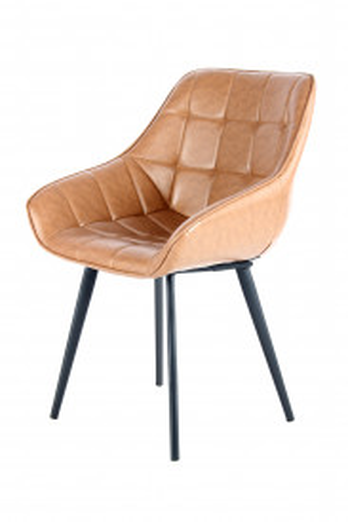 Set 2 scaune tapitate Demi maro deschis