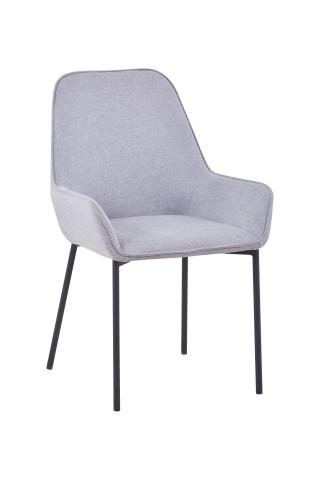 Set 2 scaune tapitate gri deschis