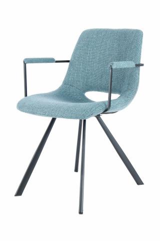 Set 2 scaune tapitate Josephine albastre