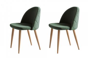 Set 2 scaune tapitate Kjell verzi