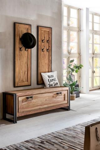 Set 3 piese mobilier pentru hol din lemn de salcam Panama
