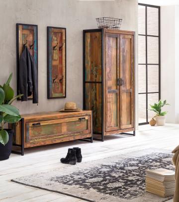 Set 4 piese mobilier pentru hol din lemn Bali
