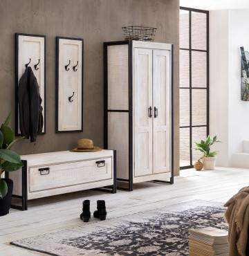 Set 4 piese mobilier pentru hol din lemn de mango White Panama