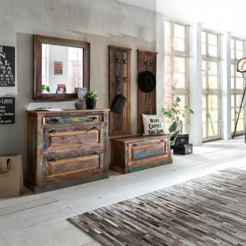 Set 5 piese mobilier pentru hol din lemn Riverboat