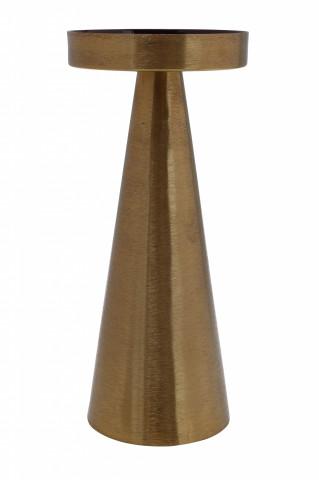 Suport lumanare din fier Art Deco, auriu / mov