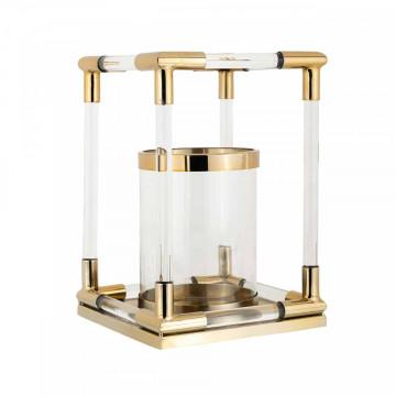 Suport lumanare din sticla Barton, gold