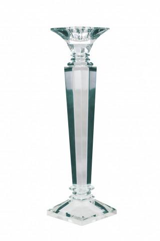 Suport lumanare din sticla de cristal Violetta II, transparent