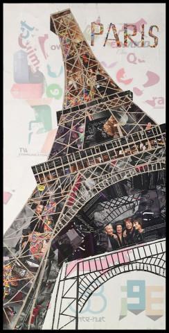 Tablou din hartie Eiffelturm II 52cm x 102cm