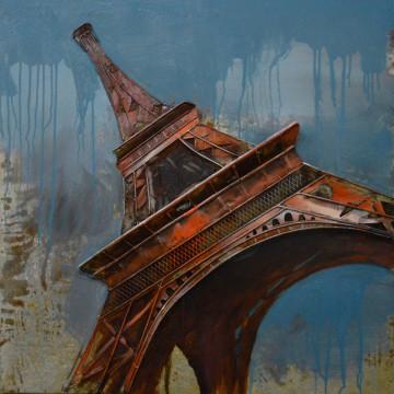 Tablou din metal Eiffelturm II 80cm x 80cm