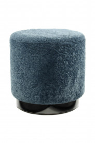 Taburet tapitat Gipsy albastru/negru