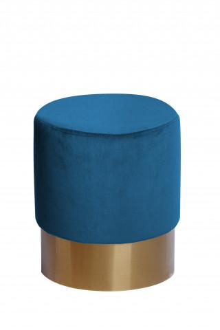 Taburet tapițat Nano albastru