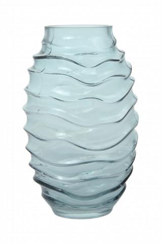 Vaza din sticlă Sidney, albastra 16x16x25,5 cm