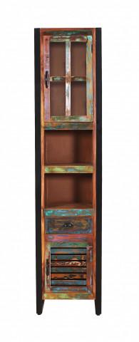 Vitrina din lemn reciclat Fiume 44x34x190 cm