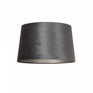ABAJUR cilindric din polyester Emily velvet graphite, diametru 30 cm