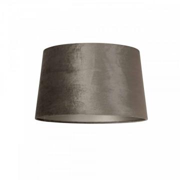 ABAJUR cilindric din polyester Jaylinn velvet taupe, diametru 30 cm