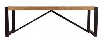 Bancheta Natural Edge din lemn de salcâm