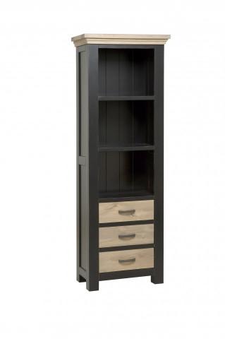 Biblioteca din stejar Parma 70x195 cm neagra