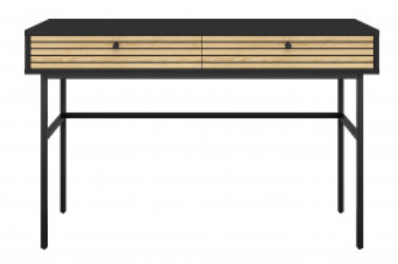 Birou din MDF cu spatiu de depozitare 120x50x75 cm negru/maro