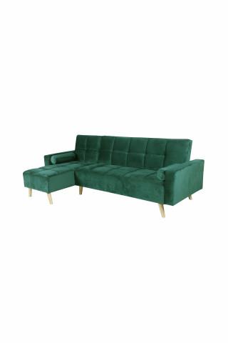 Canapea Maloni extensibila pe stânga, 3 locuri, verde
