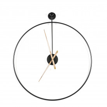 Ceas de perete 70x6x76 cm negru