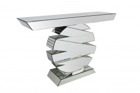 Consola din MDF with mirrored glass, round base
